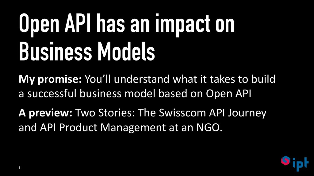 Open API has an impact on Business Models My pr...
