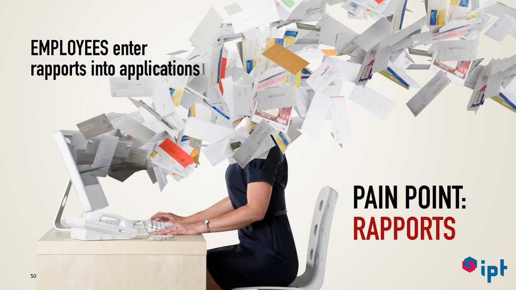 50 PAIN POINT: RAPPORTS EMPLOYEES enter rapport...