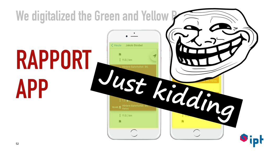 We digitalized the Green and Yellow Rapport RAP...
