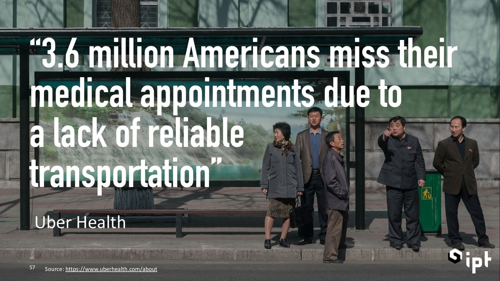 """""""3.6 million Americans miss their medical appoi..."""