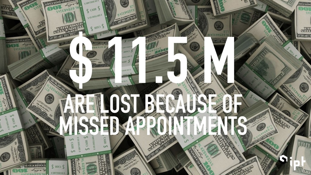 $ 11.5 M ARE LOST BECAUSE OF MISSED APPOINTMENT...
