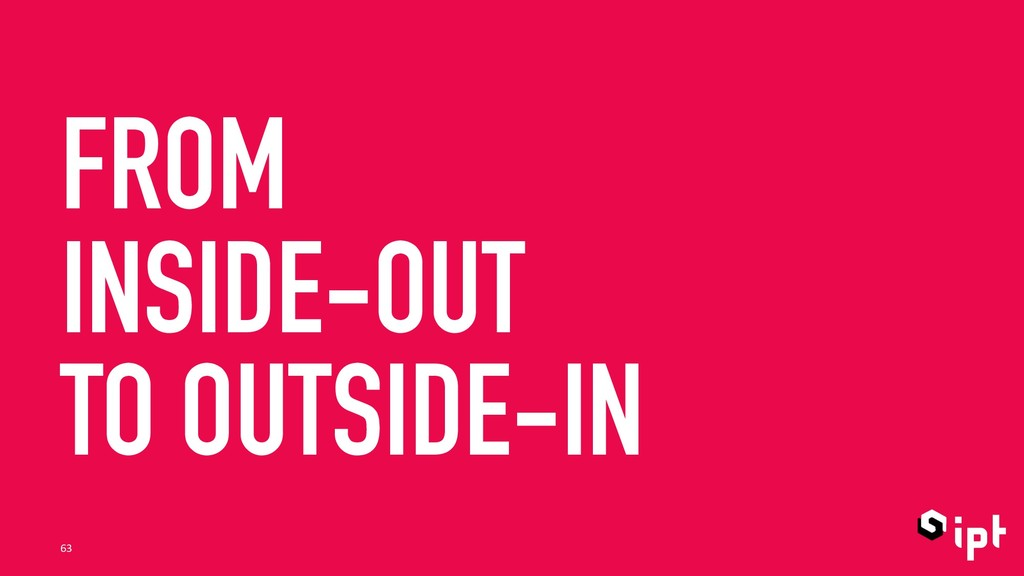FROM INSIDE-OUT TO OUTSIDE-IN 63