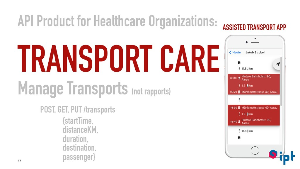 API Product for Healthcare Organizations: TRANS...