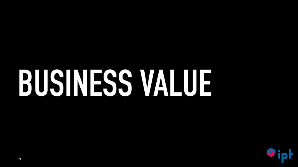 BUSINESS VALUE 69