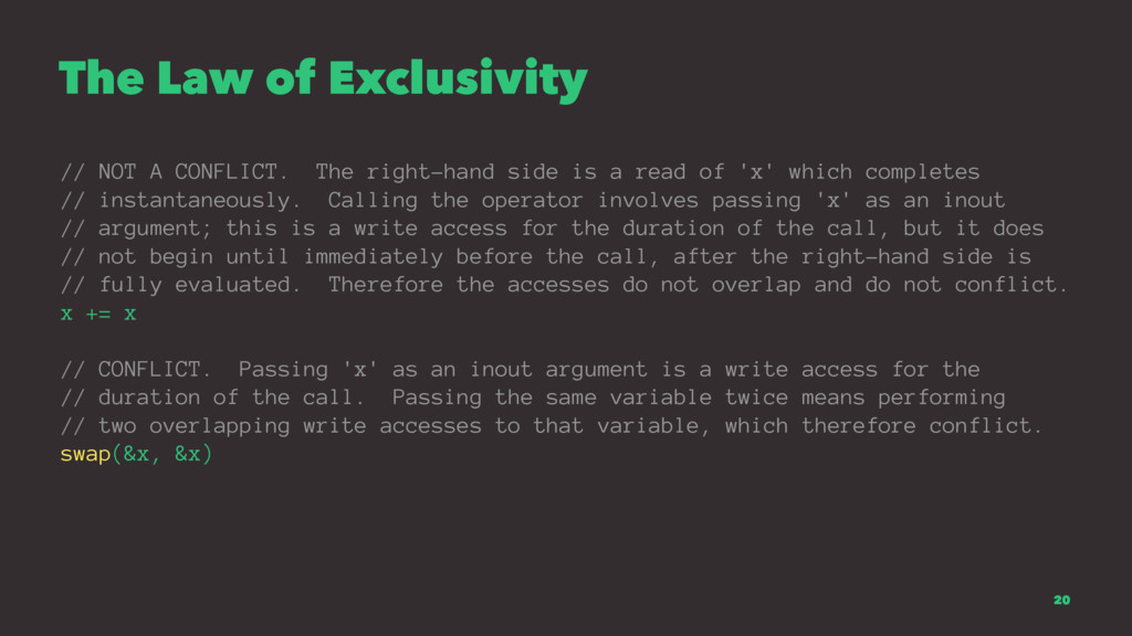 The Law of Exclusivity // NOT A CONFLICT. The r...