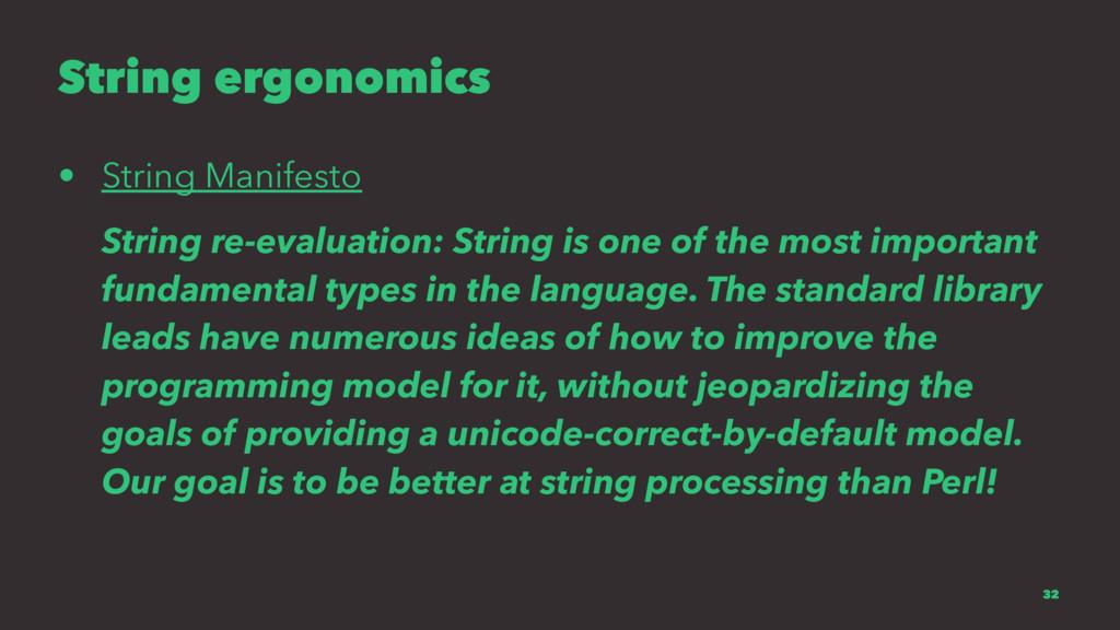 String ergonomics • String Manifesto String re-...