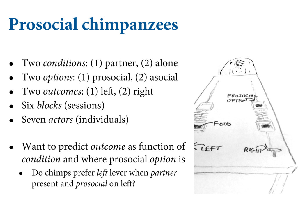 Prosocial chimpanzees • Two conditions: (1) par...