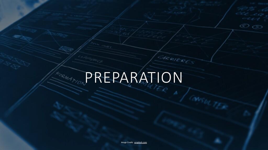 PREPARATION Image Credit: unsplash.com