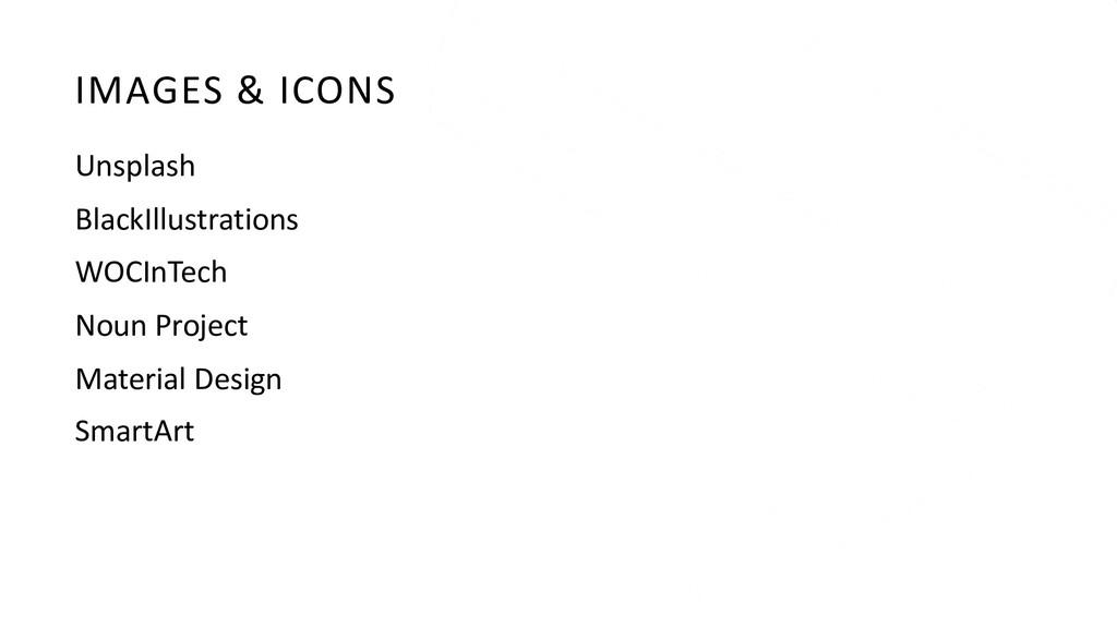 IMAGES & ICONS Unsplash BlackIllustrations WOCI...
