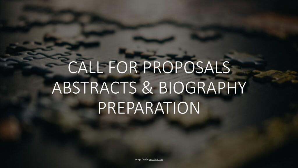 Image Credit: unsplash.com CALL FOR PROPOSALS A...