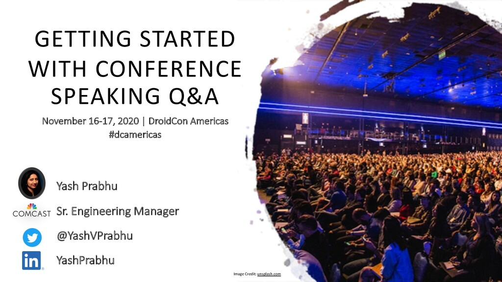 GETTING STARTED WITH CONFERENCE SPEAKING Q&A No...
