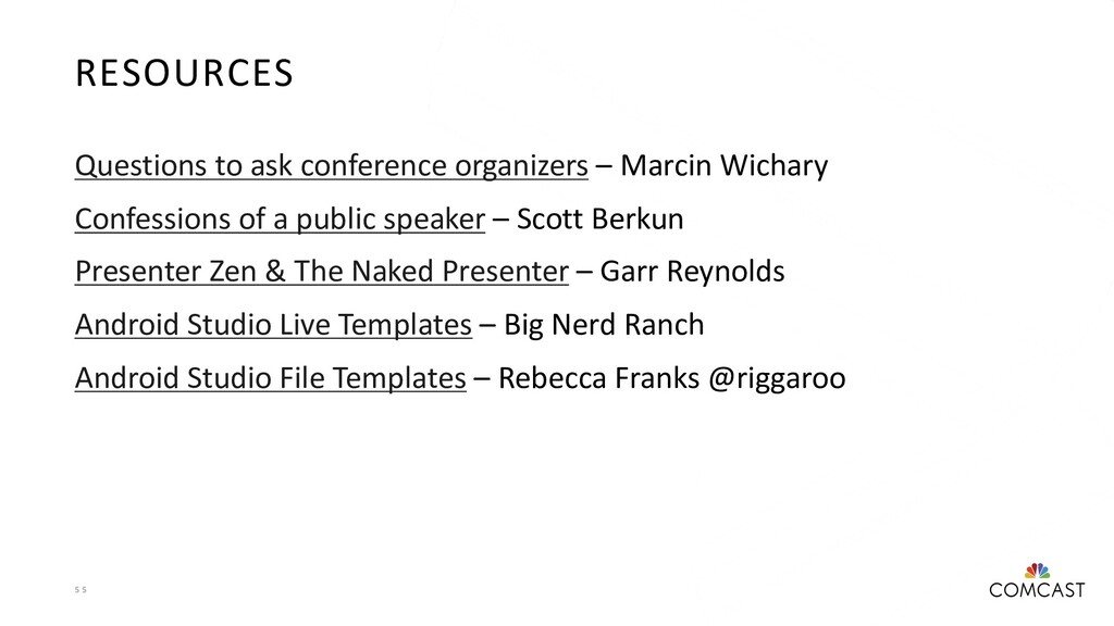 5 5 RESOURCES Questions to ask conference organ...