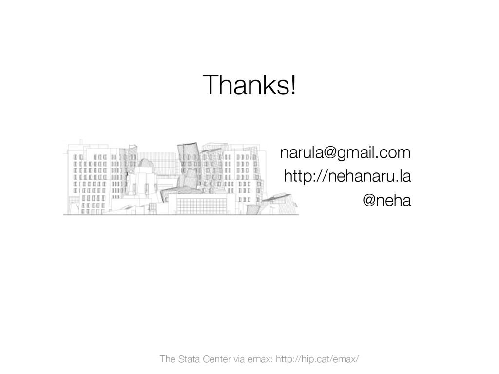 """Thanks!""""  The Stata Center via emax: http://hi..."""