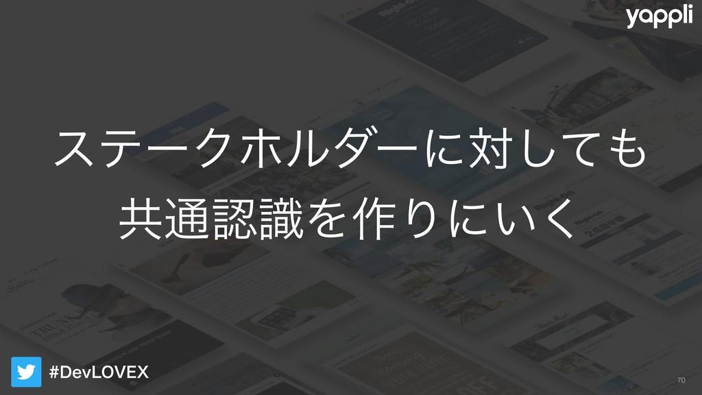 %FW-07&9 εςʔΫϗϧμʔʹରͯ͠ ڞ௨ࣝΛ࡞Γʹ͍͘ !70