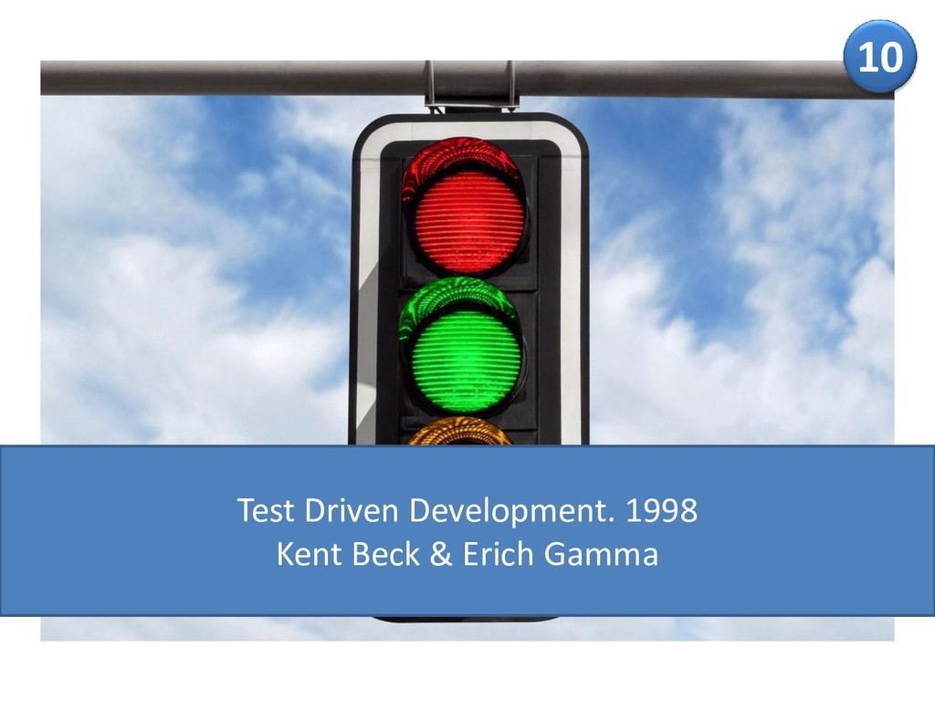 10 Test Driven Development. 1998 Kent Beck & Er...
