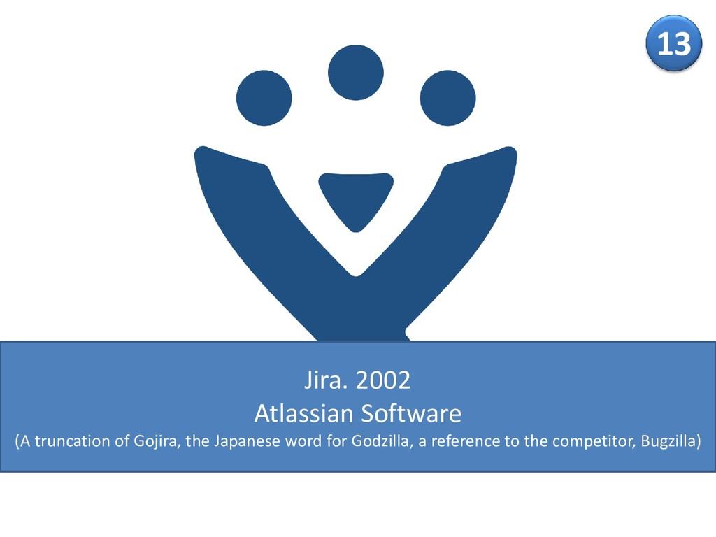 13 Jira. 2002 Atlassian Software (A truncation ...