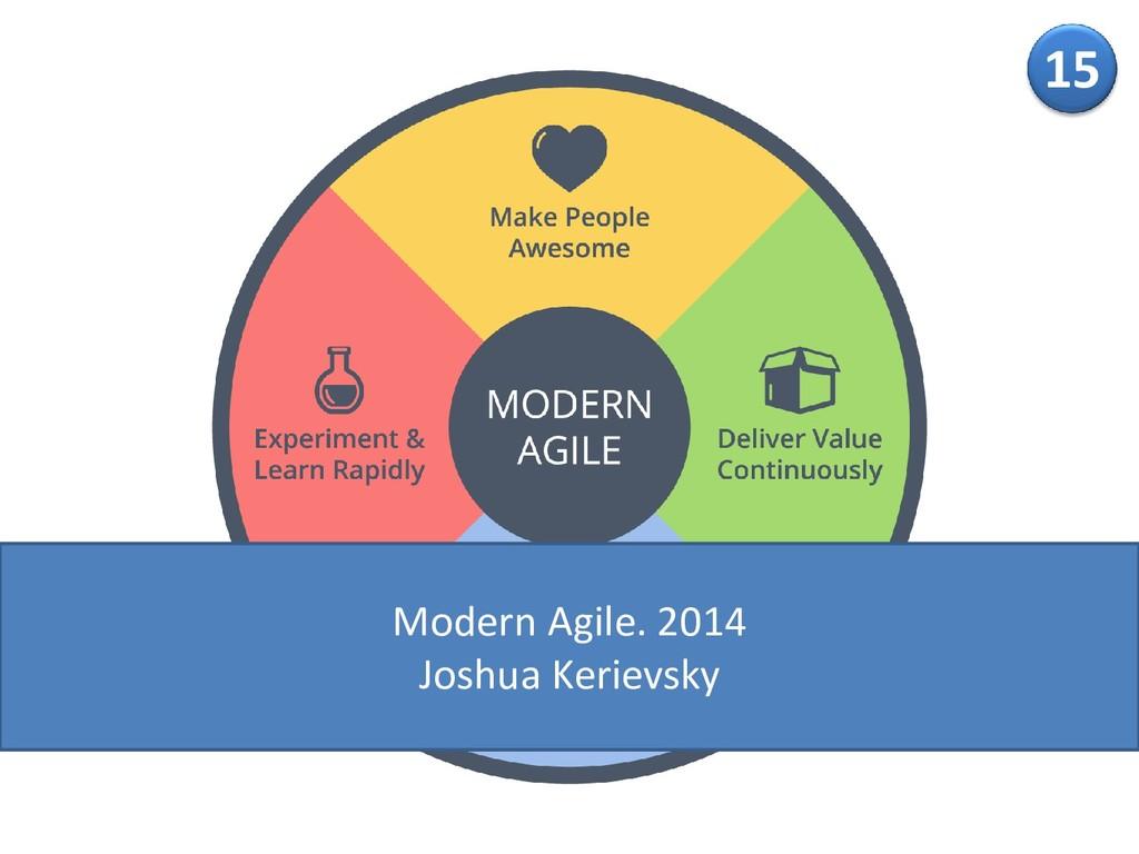 15 Modern Agile. 2014 Joshua Kerievsky