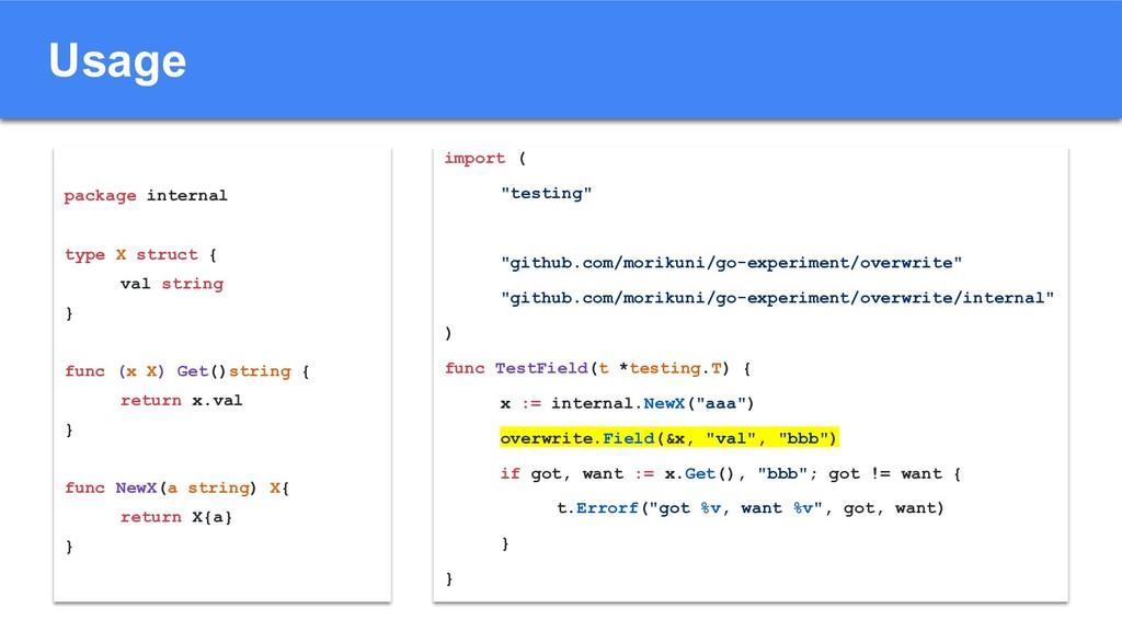 "Usage import ( ""testing"" ""github.com/morikuni/g..."