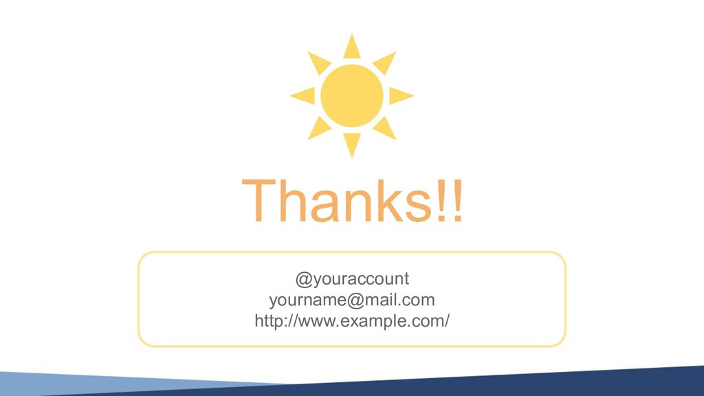 Thanks!! @youraccount yourname@mail.com http://...