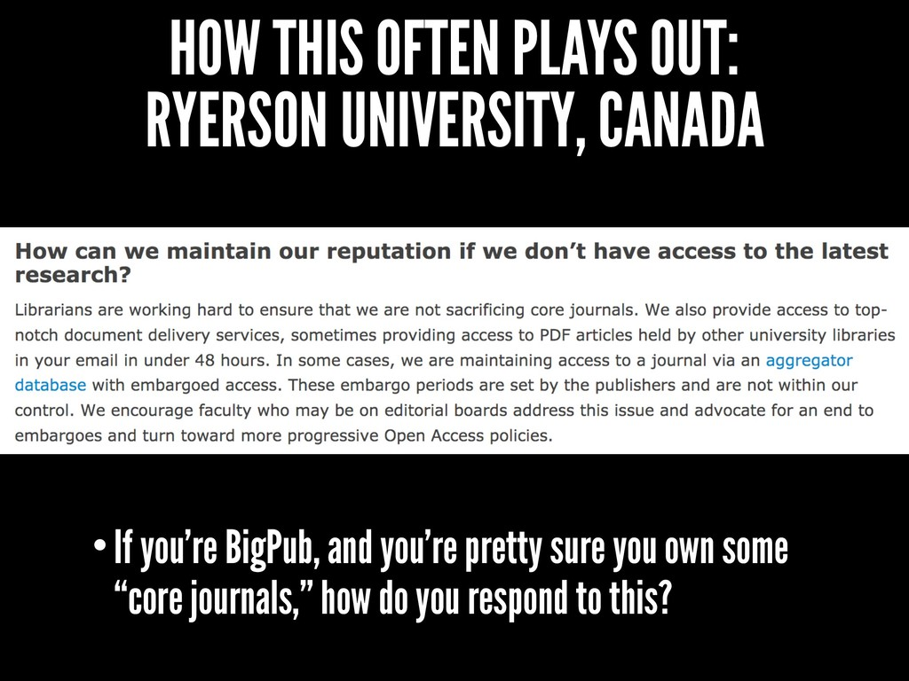 HOW THIS OFTEN PLAYS OUT: RYERSON UNIVERSITY, C...