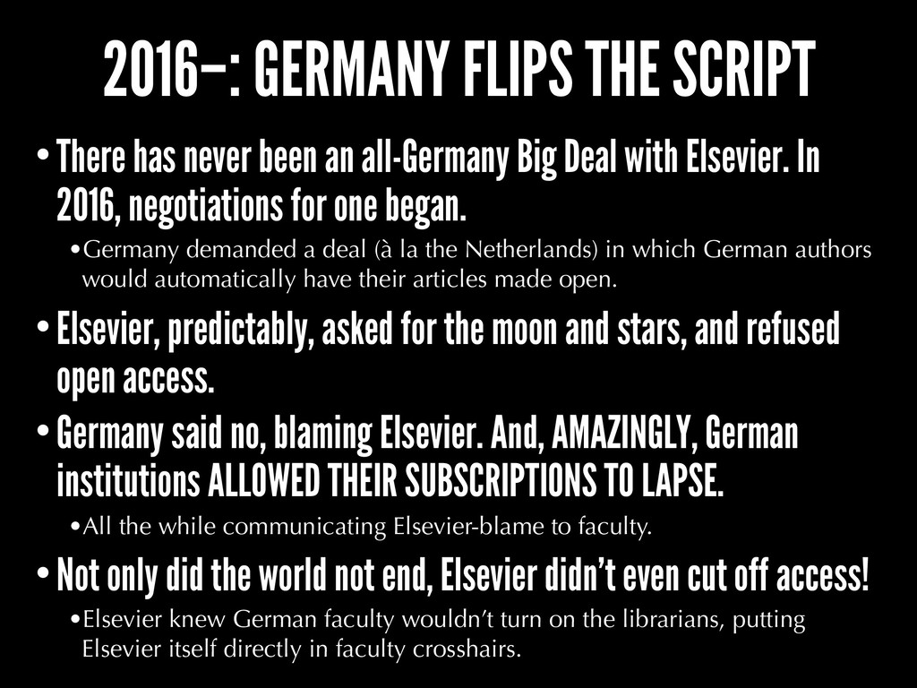2016–: GERMANY FLIPS THE SCRIPT •There has neve...