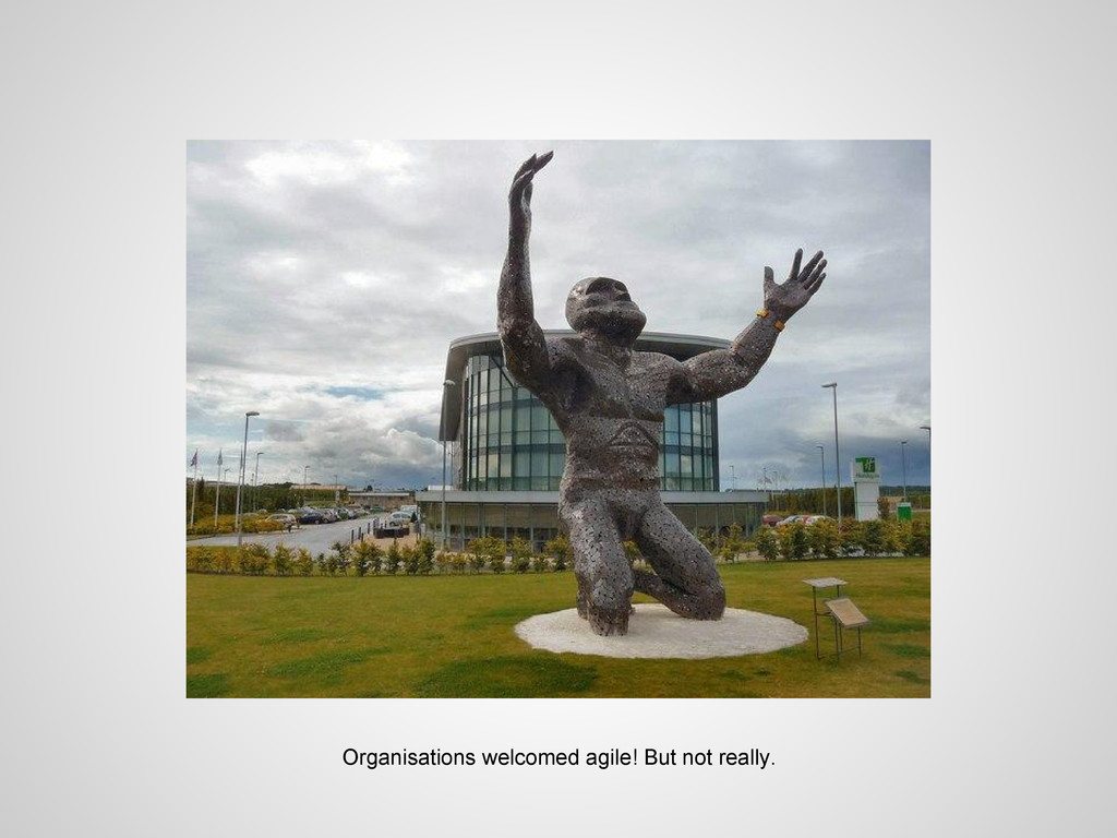 Organisations welcomed agile! But not really.