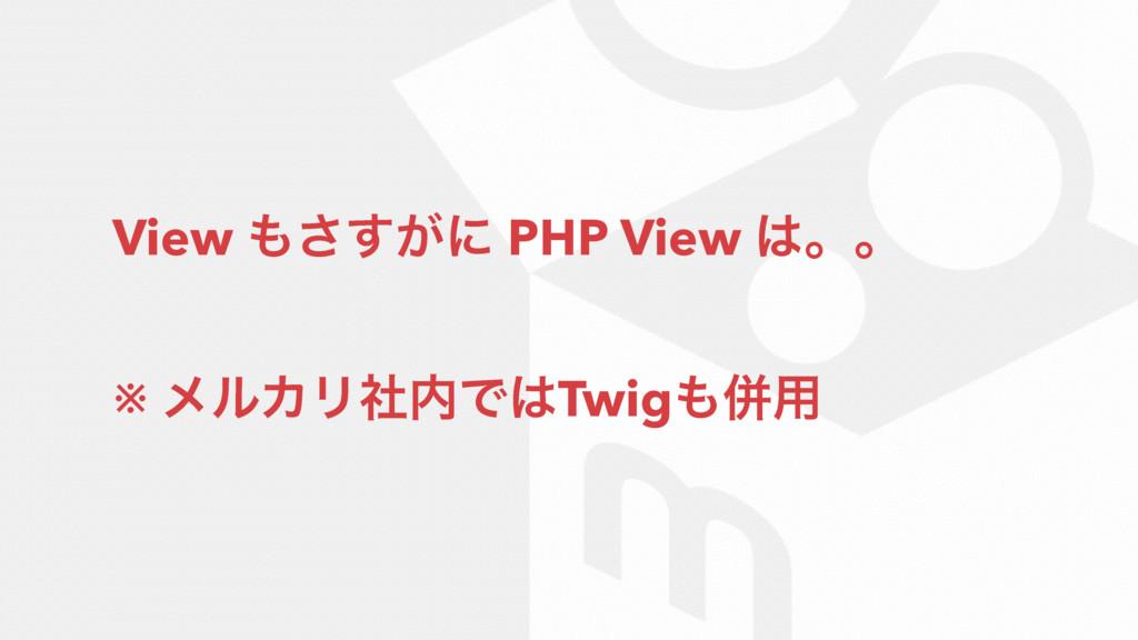 View ͕͢͞ʹ PHP View ɻɻ ※ ϝϧΧϦࣾͰTwigซ༻