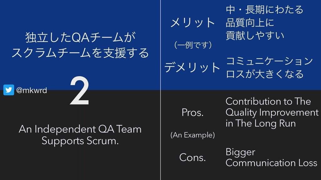@mkwrd An Independent QA Team Supports Scrum. ಠ...