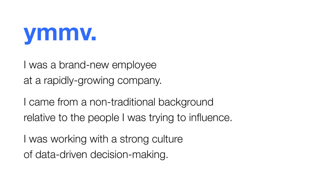 ymmv. I was a brand-new employee  at a rapidly...