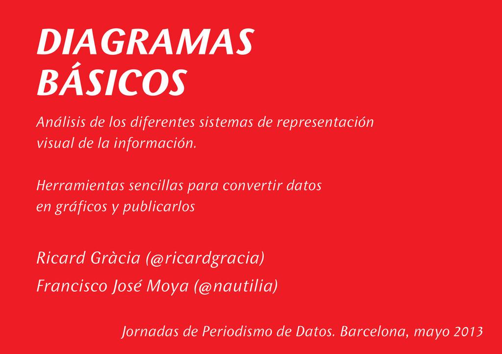 DIAGRAMAS BÁSICOS Jornadas de Periodismo de Dat...