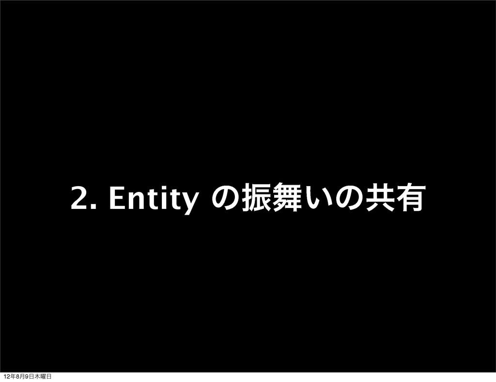 2. Entity ͷৼ͍ͷڞ༗ 128݄9༵