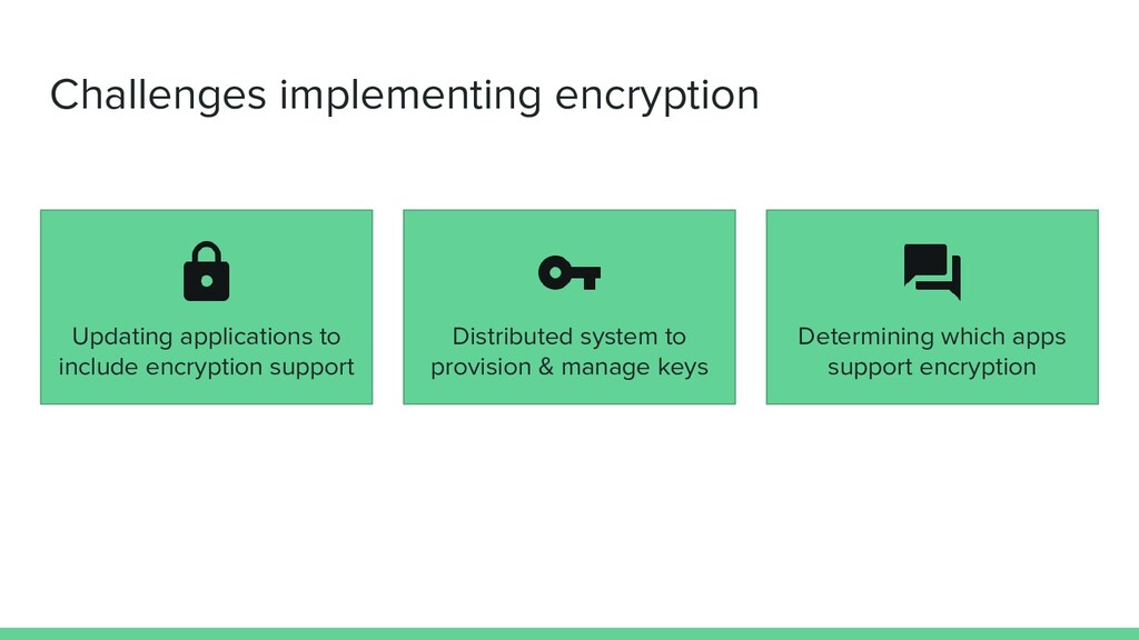 Determining which apps support encryption Distr...