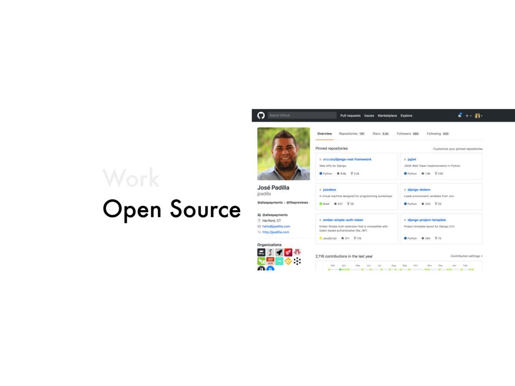 Work Open Source