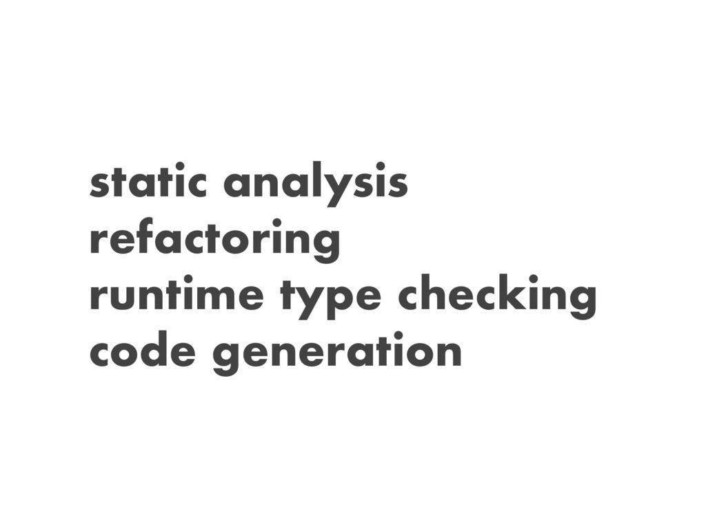 static analysis refactoring runtime type checki...