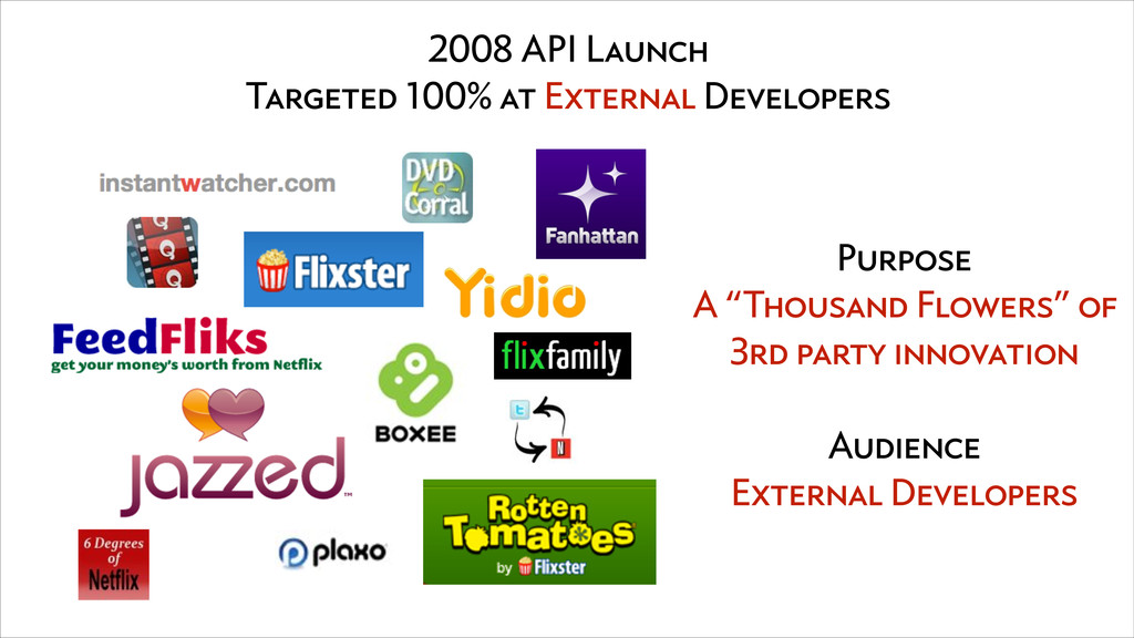 2008 API Launch Targeted 100% at External Devel...