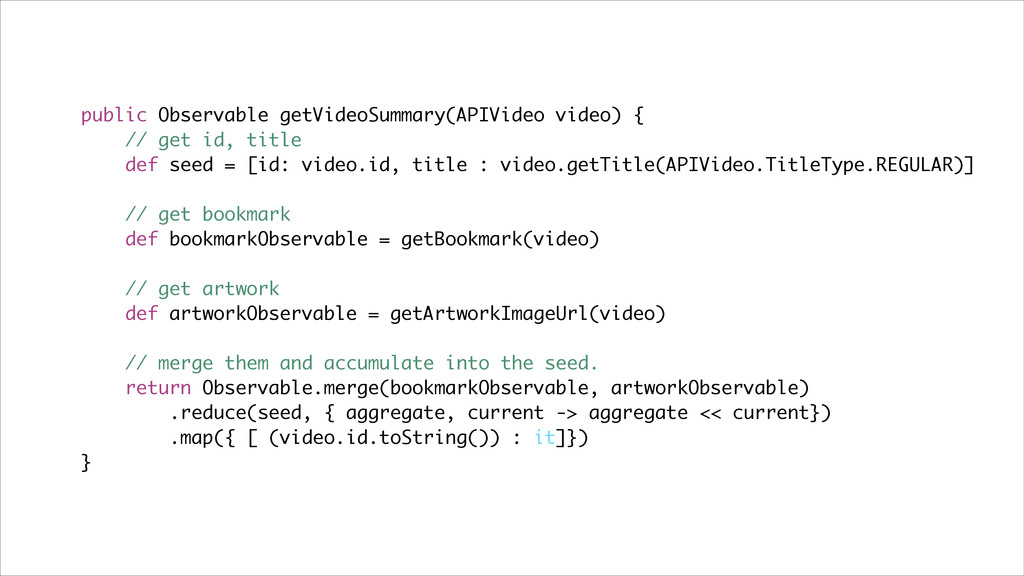 public Observable getVideoSummary(APIVideo vide...