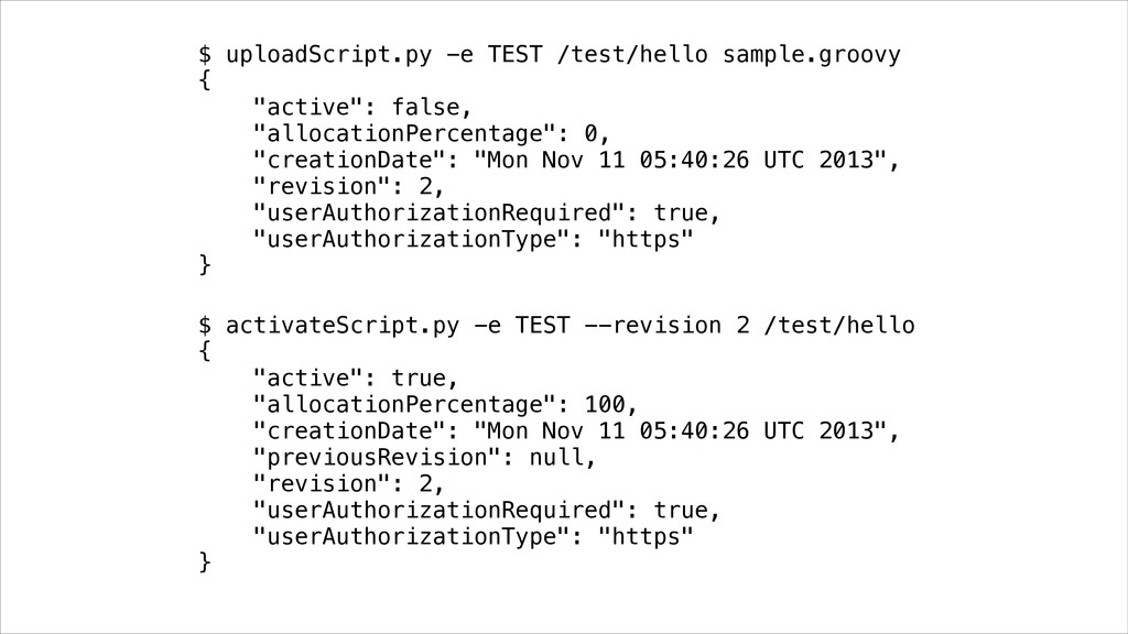 $ uploadScript.py -e TEST /test/hello sample.gr...