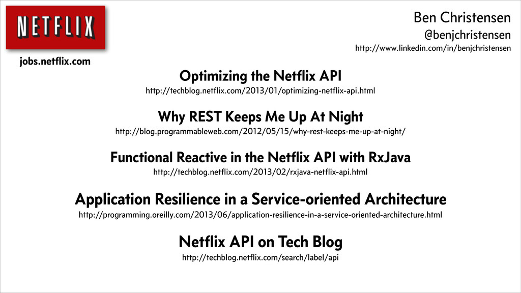 Optimizing the Netflix API http://techblog.netfli...