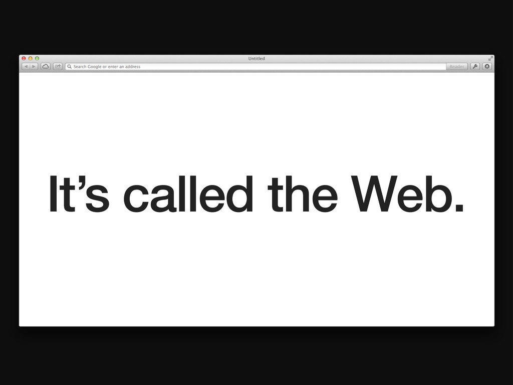 It's called the Web.