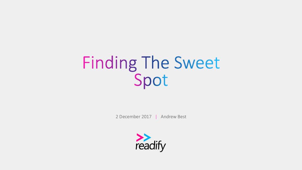 2 December 2017 | Andrew Best