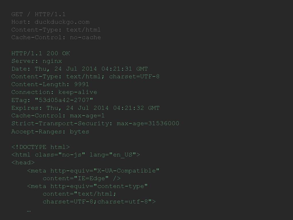 GET / HTTP/1.1 Host: duckduckgo.com Content-Typ...