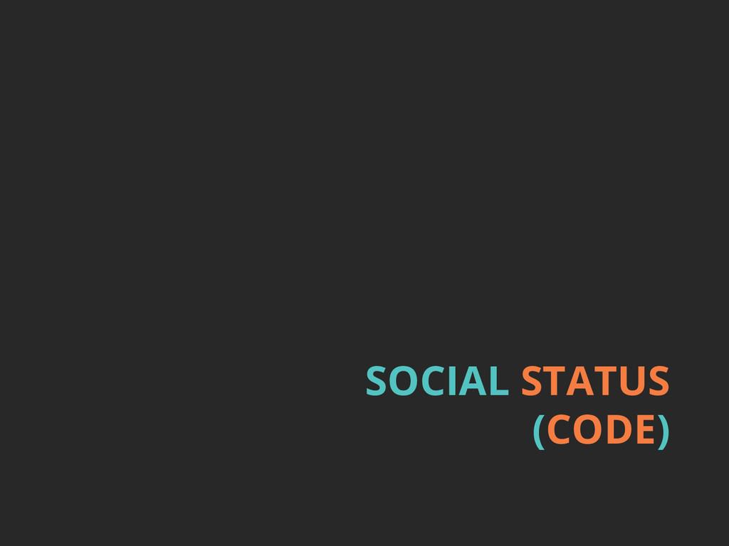 SOCIAL STATUS (CODE)