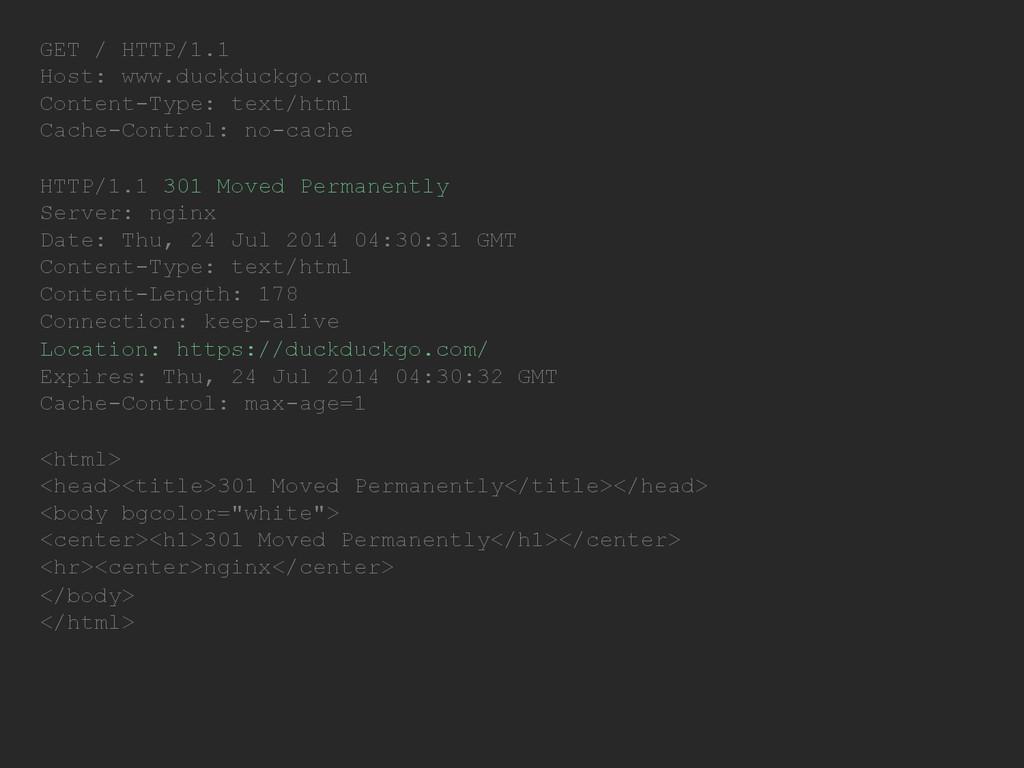 GET / HTTP/1.1 Host: www.duckduckgo.com Content...