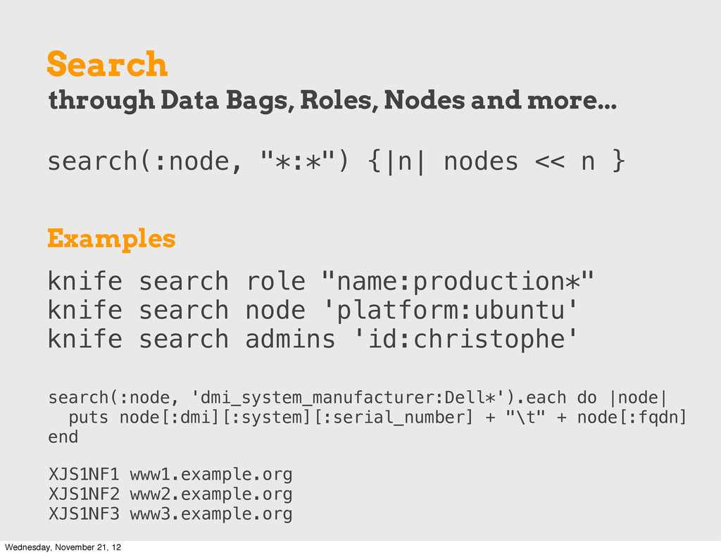 "Search search(:node, ""*:*"") {