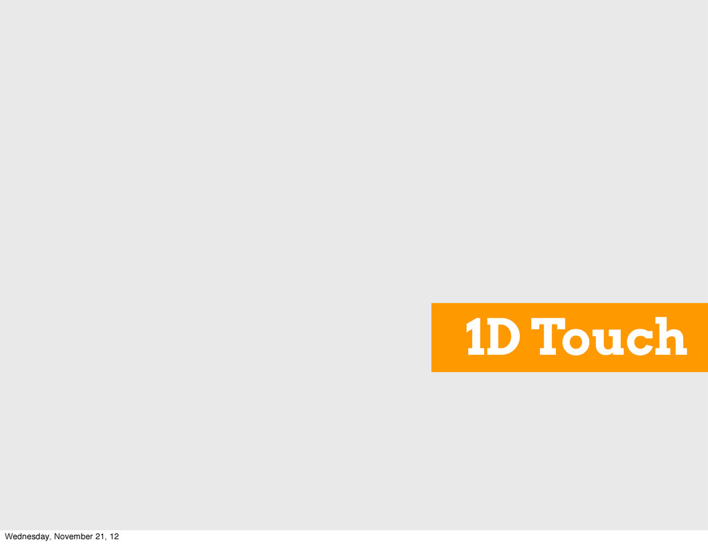 1D Touch Wednesday, November 21, 12