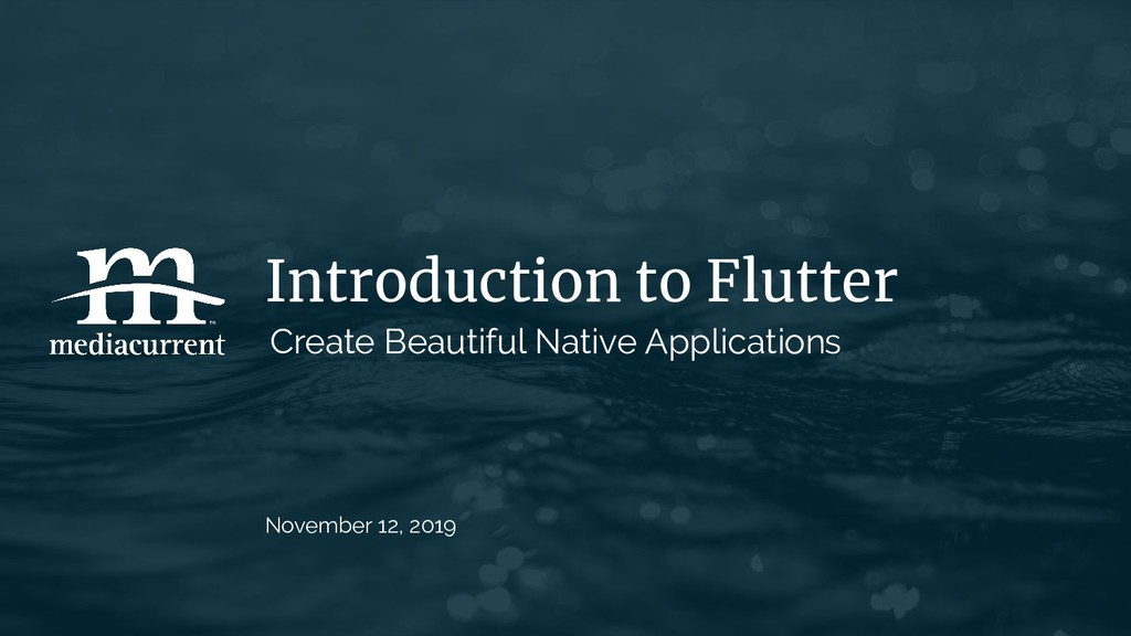 Introduction to Flutter Create Beautiful Native...