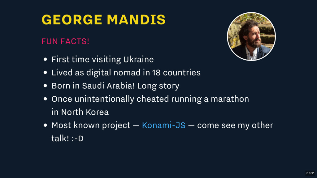GEORGE MANDIS FUN FACTS! First time visiting Uk...