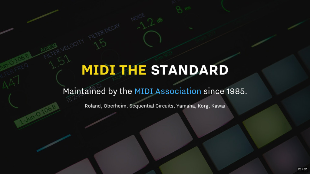 MIDI THE STANDARD Maintained by the since 1985....