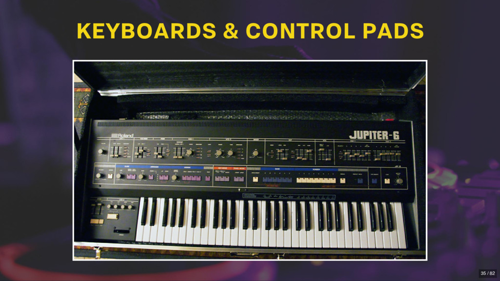 KEYBOARDS & CONTROL PADS 35 / 82