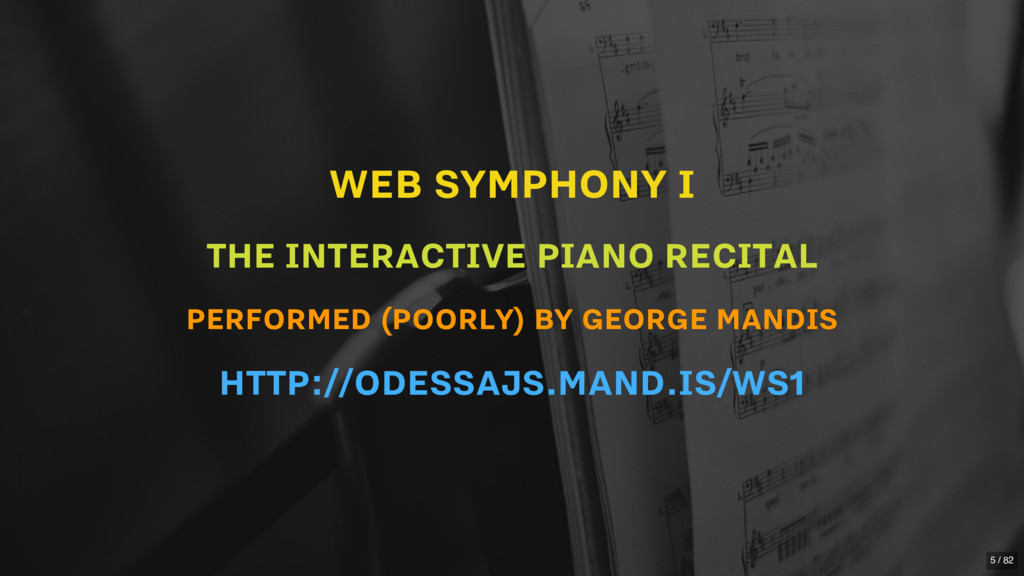 WEB SYMPHONY I THE INTERACTIVE PIANO RECITAL PE...